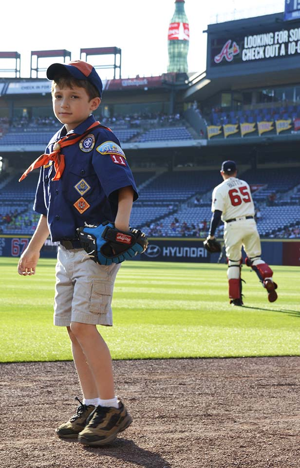 A Cub Scout at the Braves Game