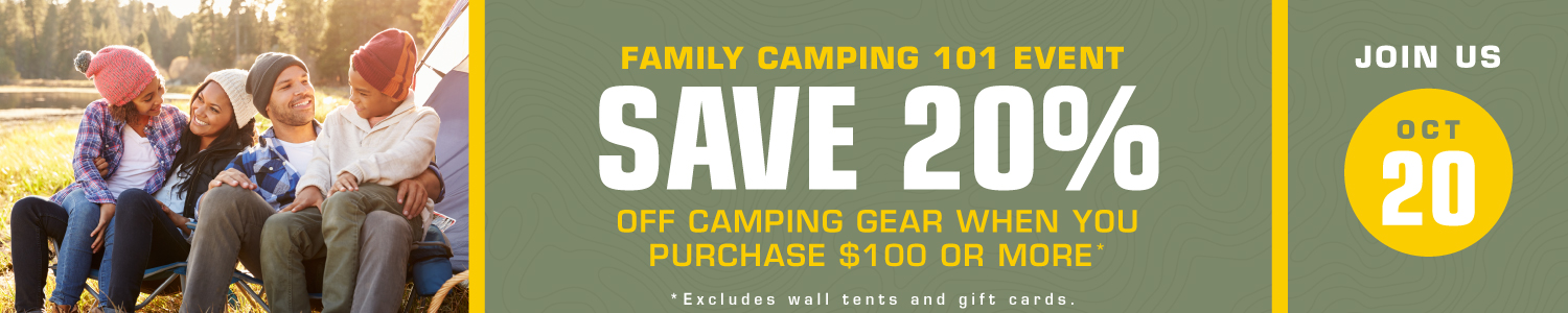 Family Camping Sale on October 20