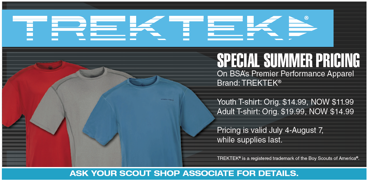 Trek Tek shirts now on sale!