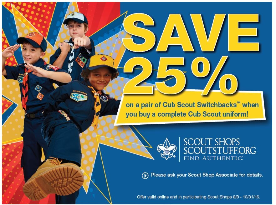 Cub Scout uniform shorts now on sale!