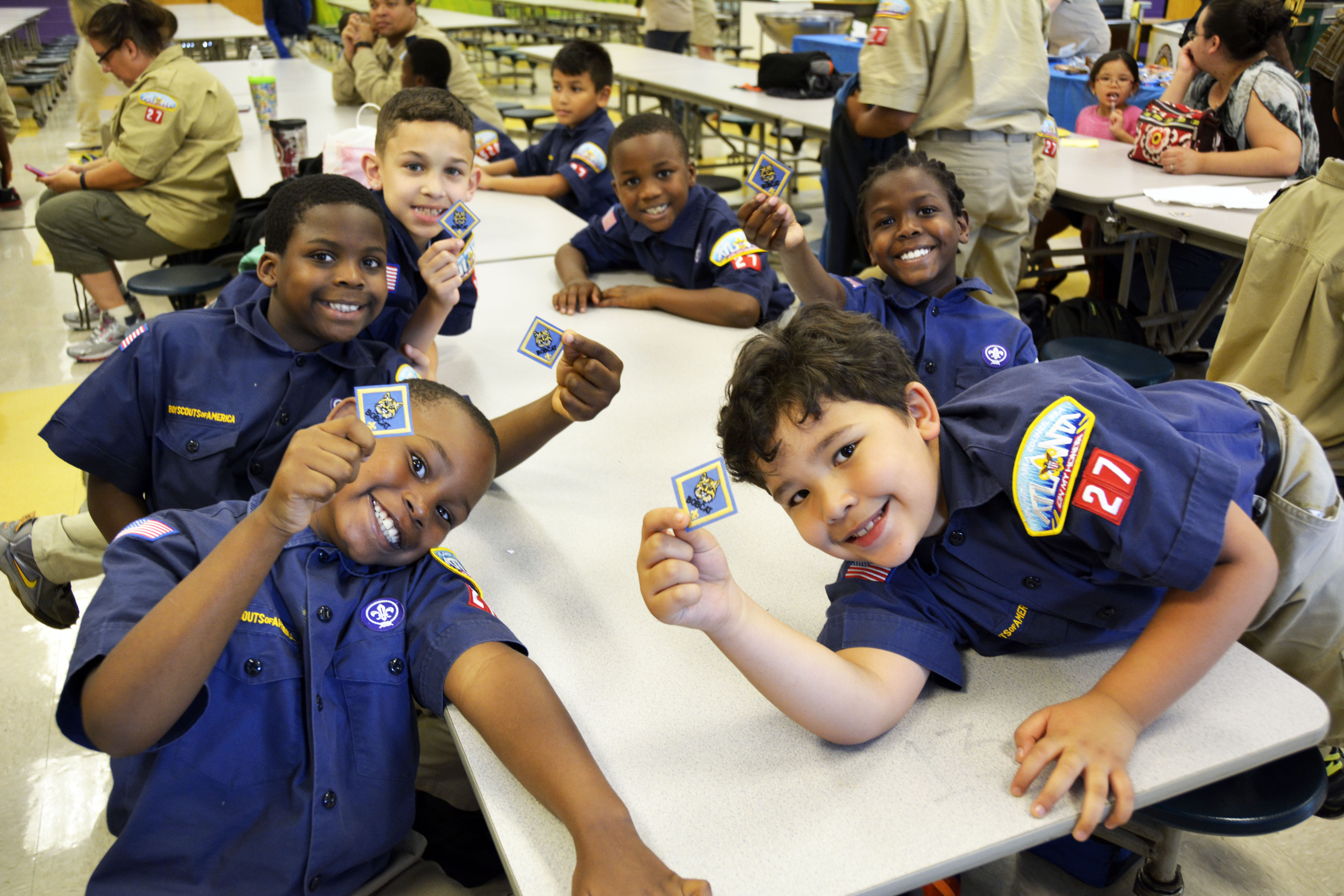 New Cub Scouts show off their Bobcat Badges