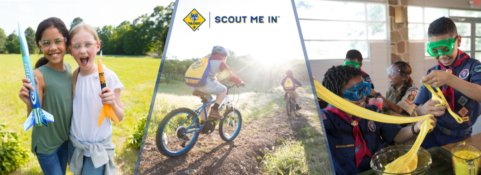 Cub Scouts have fun on a campout