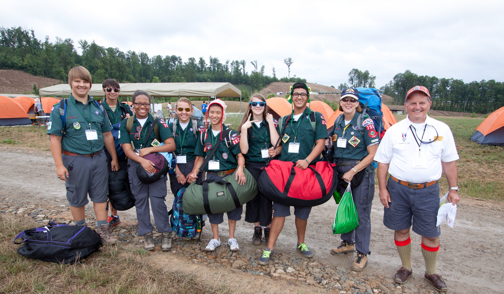 A group of Venturers at the National Jamboree