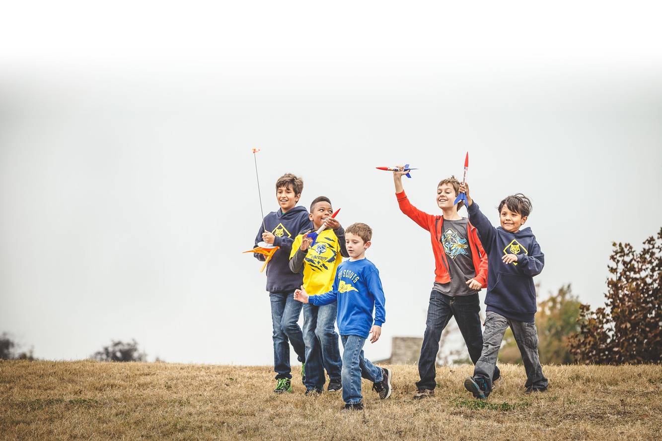 Cub Scouts Shoot Model Rockets