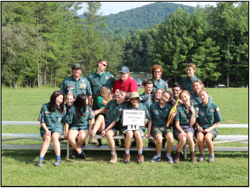 Venturers at Woodruff Scout Camp