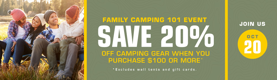 Family Camping Sale at the Scout Shop