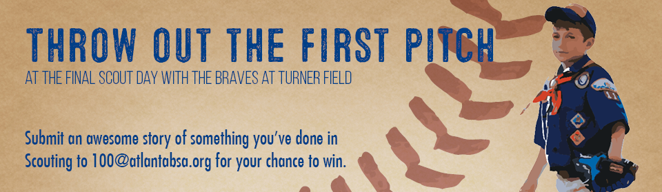 Throw out the first pitch at a Braves Game!