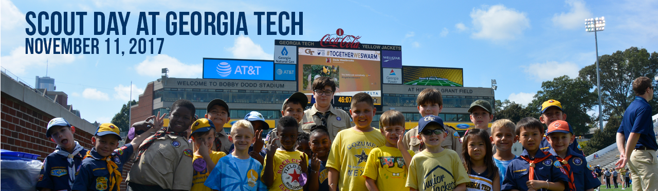 Scout Day with Georgia Tech on November 11, 2017