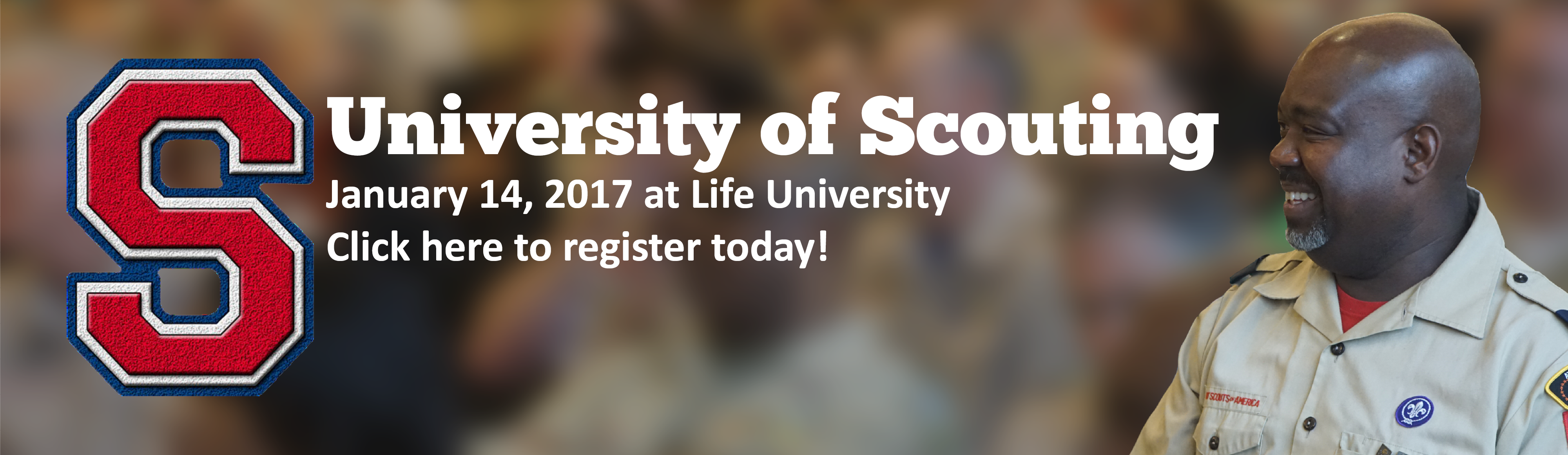 Click here to register for University of Scouting