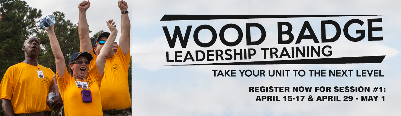 Register for Woodbadge Session 1