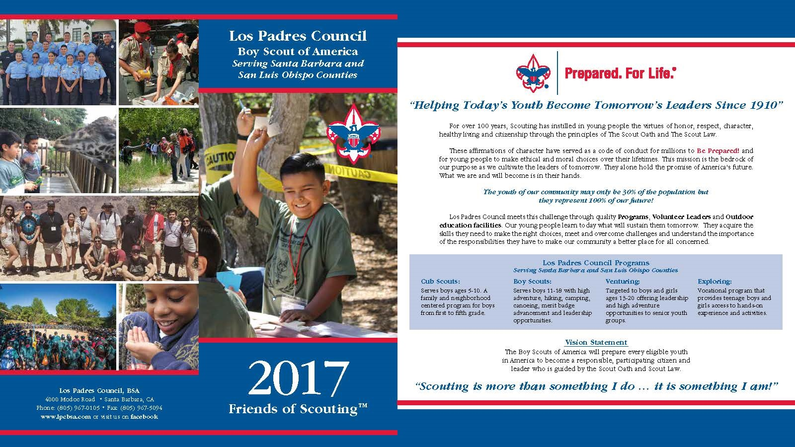 2017 Friends of Scouting Front Side