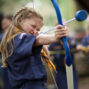 Girl Cub Scout Archery