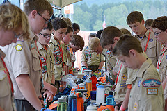 Mealtime at the National Scout Jamboree