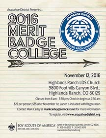 Arapahoe District Merit Badge College