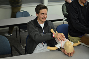 Youth explore medical career CPR
