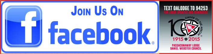 Facebook & Text OALODGE to 94253