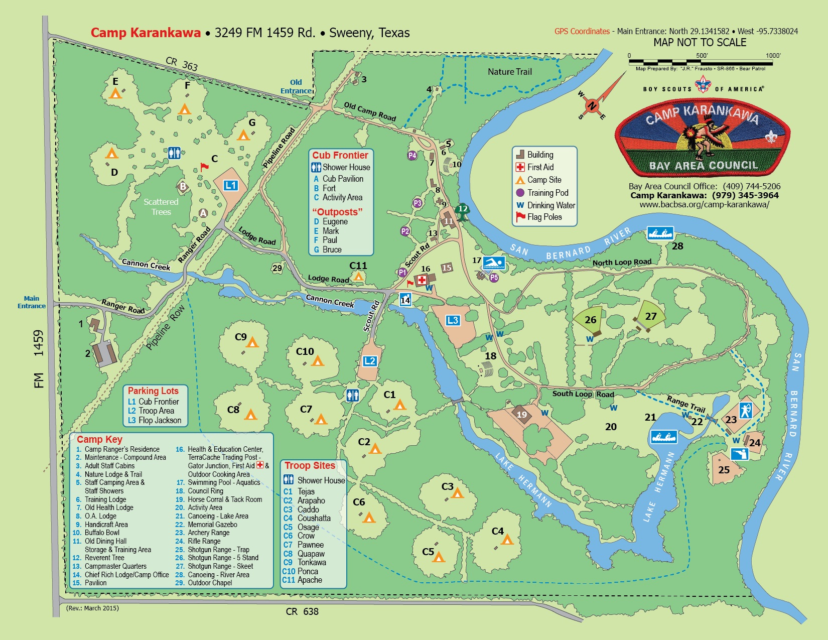 Camp K map