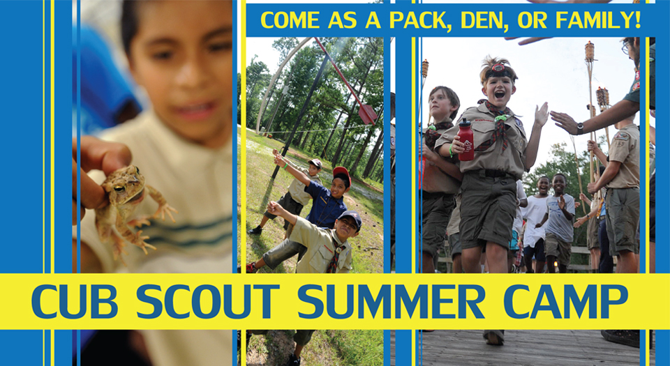 Regiseter now for Cub Scout Summer Camp