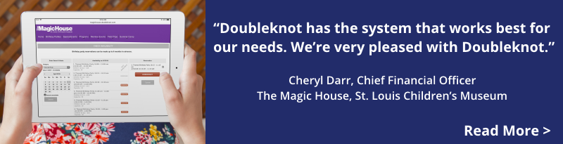 The Magic House, St. Louis Children's Museum, manages camp & event registrations, group visit and birthday party reservations and collects payment anywhere with Doubleknot.