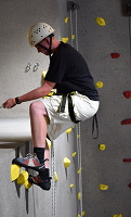 Rock Gym Rappelling Station
