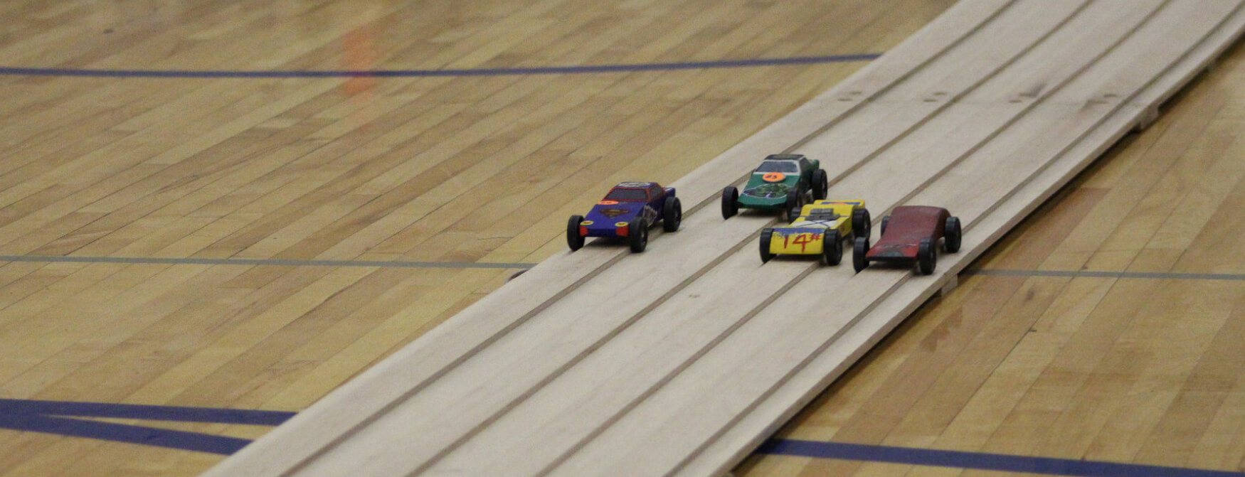 Pinewood Derby race