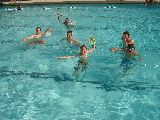 Swimming at Camp Cris Dobbins in the Gates Aquatics Center