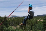 Zip line at Camp Tahosa