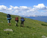 Backpacking near Camp Tahosa in the Indian Peaks Wilderness Area