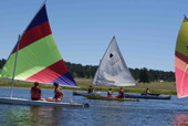 Sailing on Silver Lake at Peaceful Valley Scout Ranch