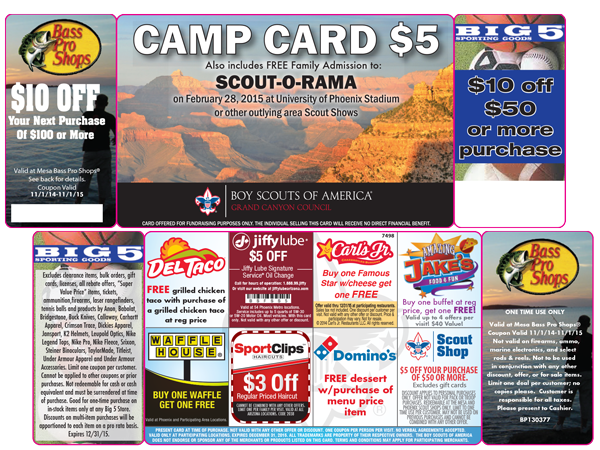 Camp Card back side