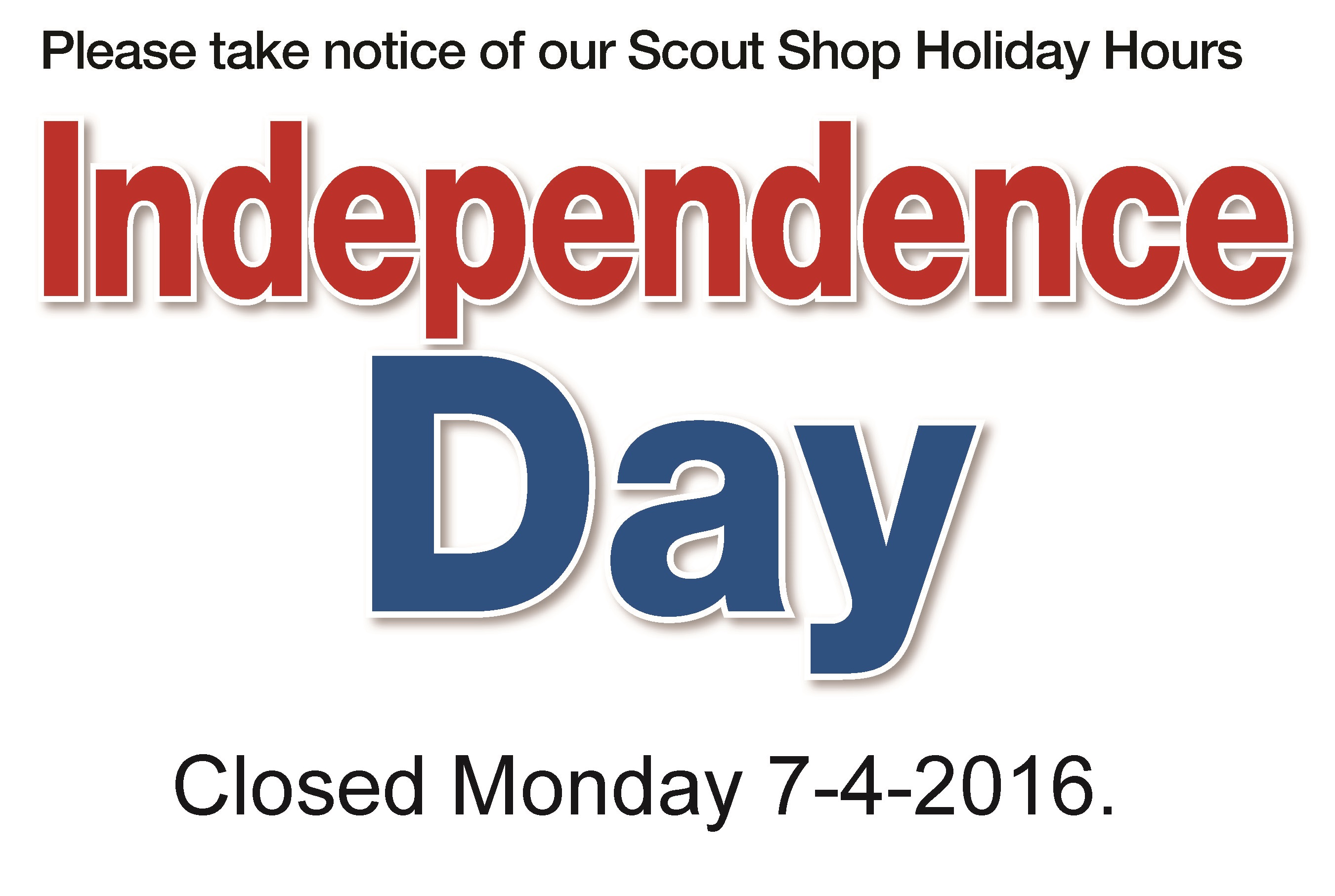Closed on Independence Day