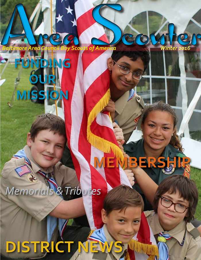 CLICK TO VIEW WINTER 2016 ISSUE OF AREA SCOUTER