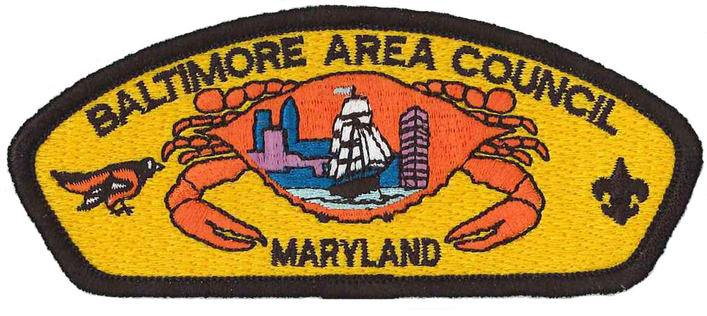 This is the council patch for the Boy Scouts of America Baltimore Area Council.