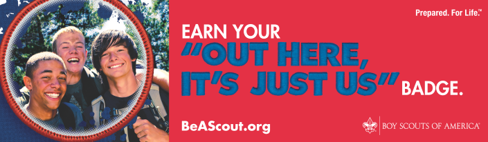 "Earn Your ""Out Here It's Just Us"" Badge!"