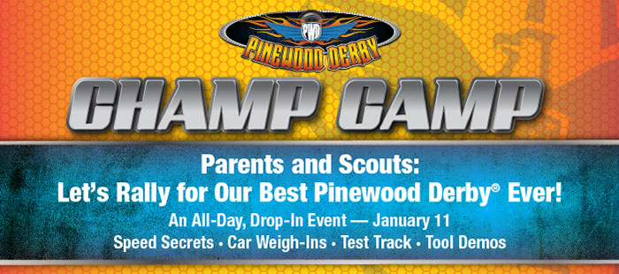 Pinewood Derby Champ Camp