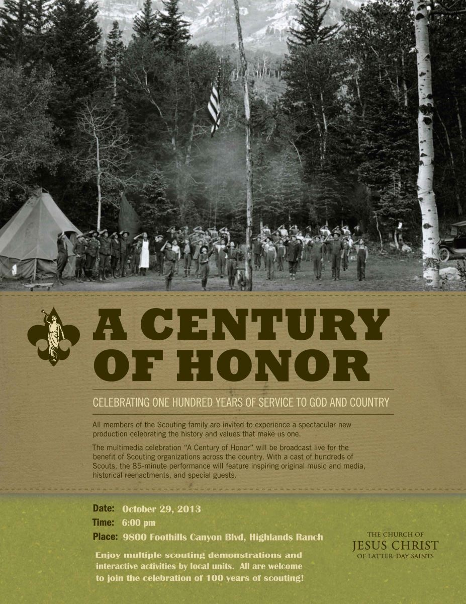 A Century of Scouting Flyer