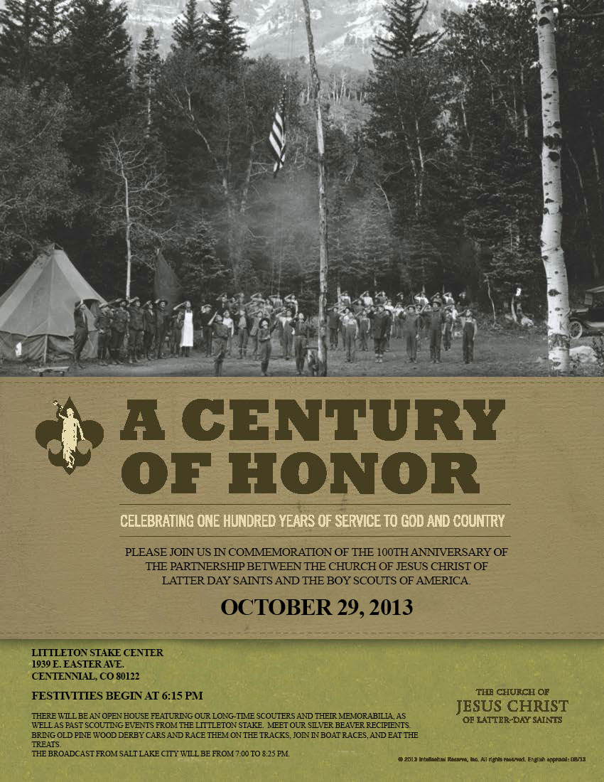Littleton LDS Stake - A Century of Honor Flyer