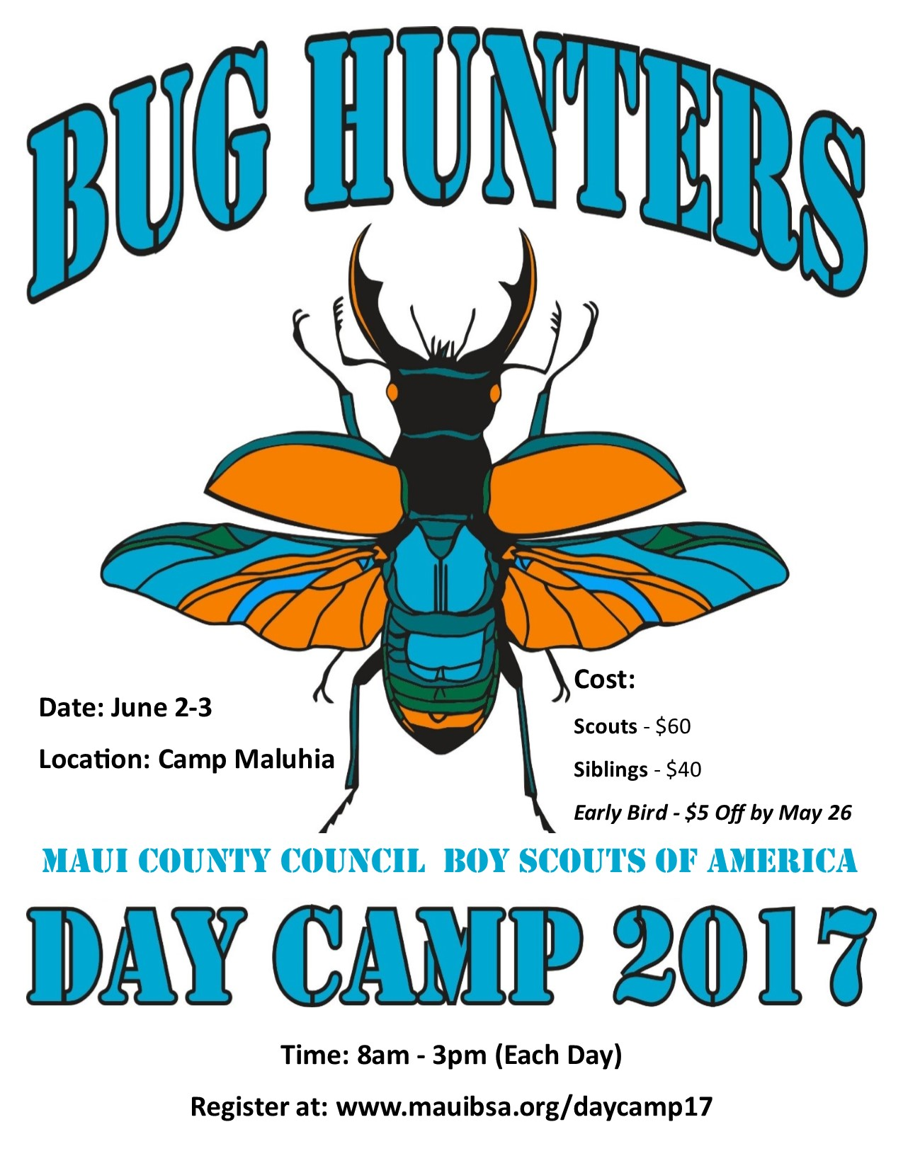 Cub Scout Day Camp Bug Hunters 2017 Registration – Boy Scout Medical Form