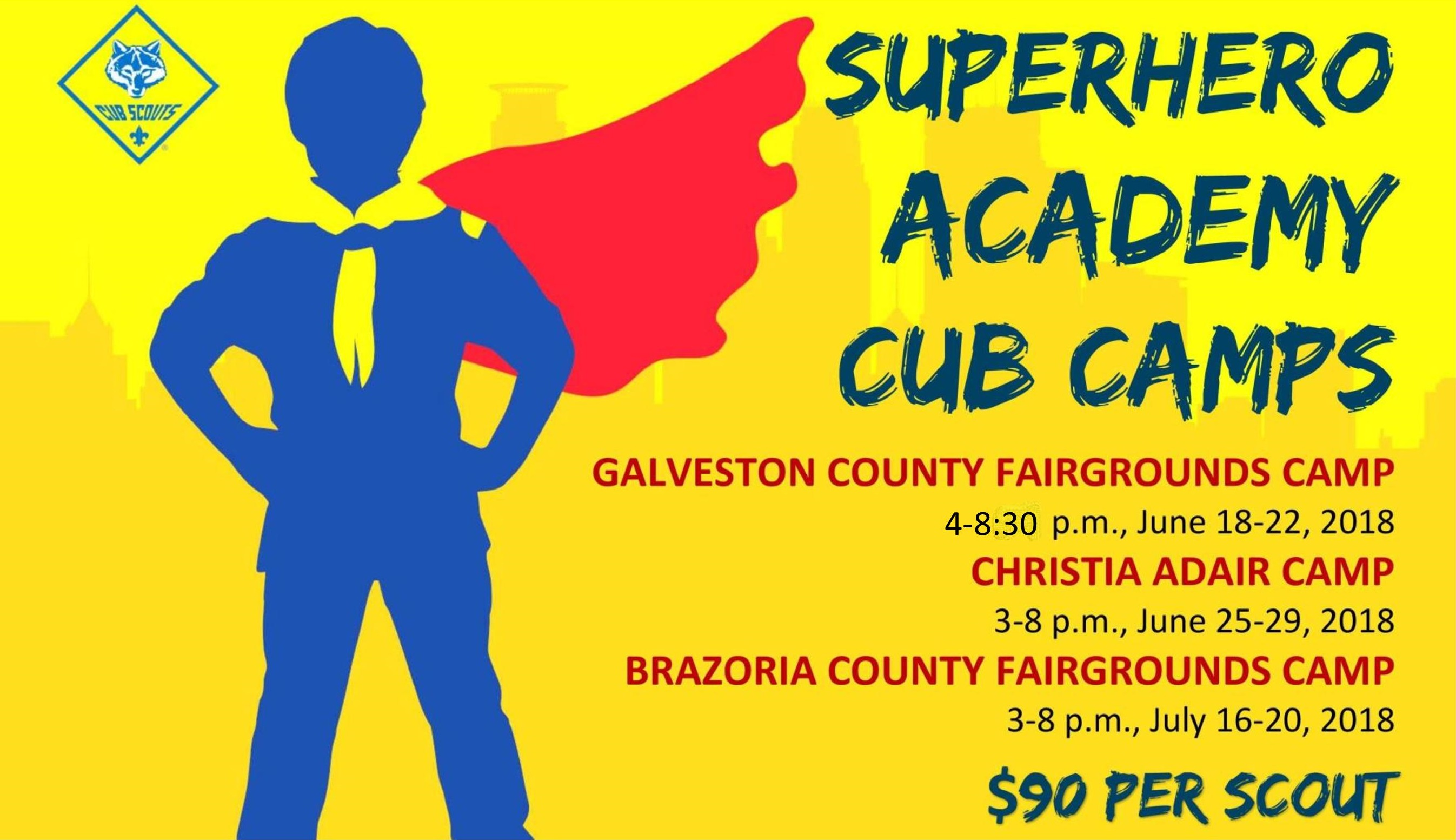 Superhero Cub Camp
