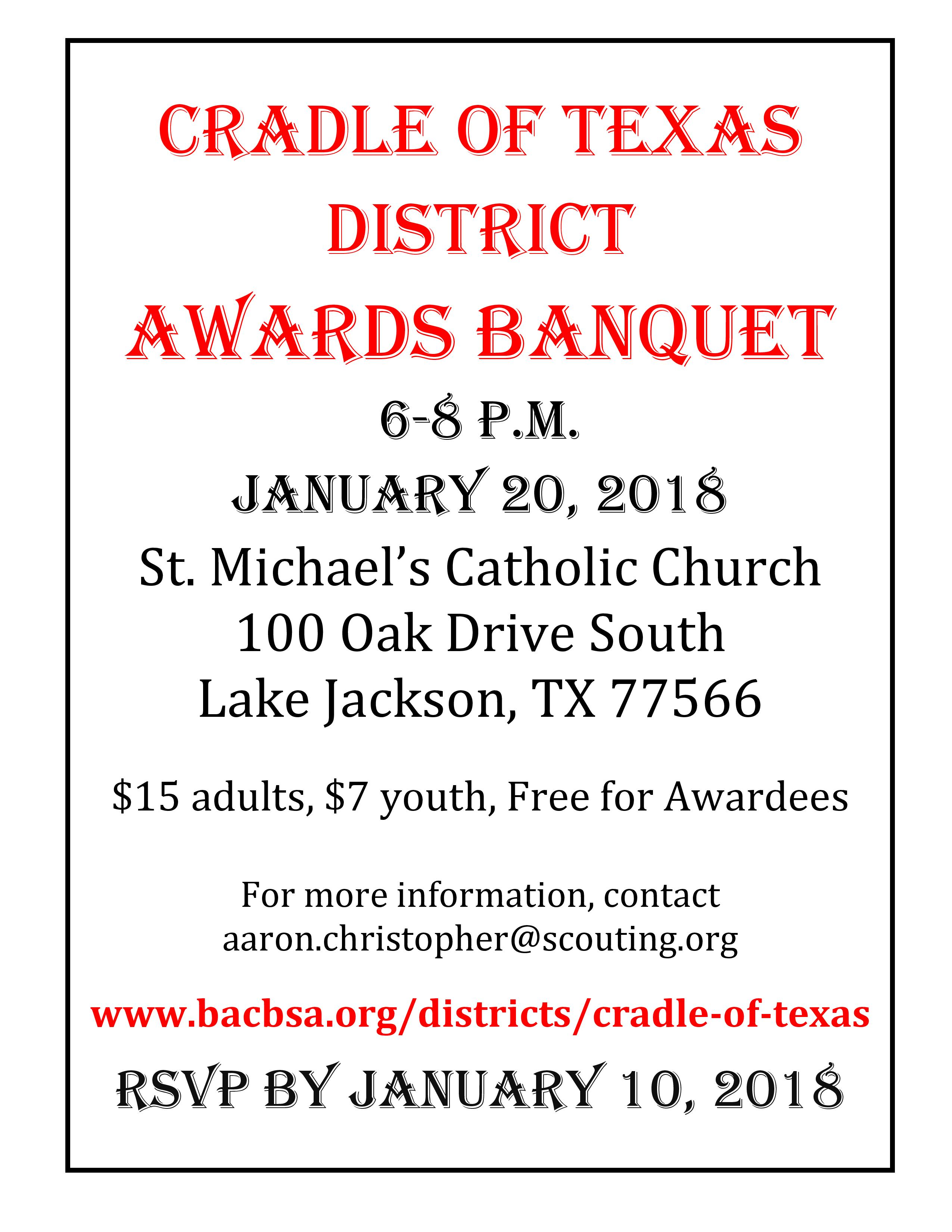 Cradle of Texas Banquet