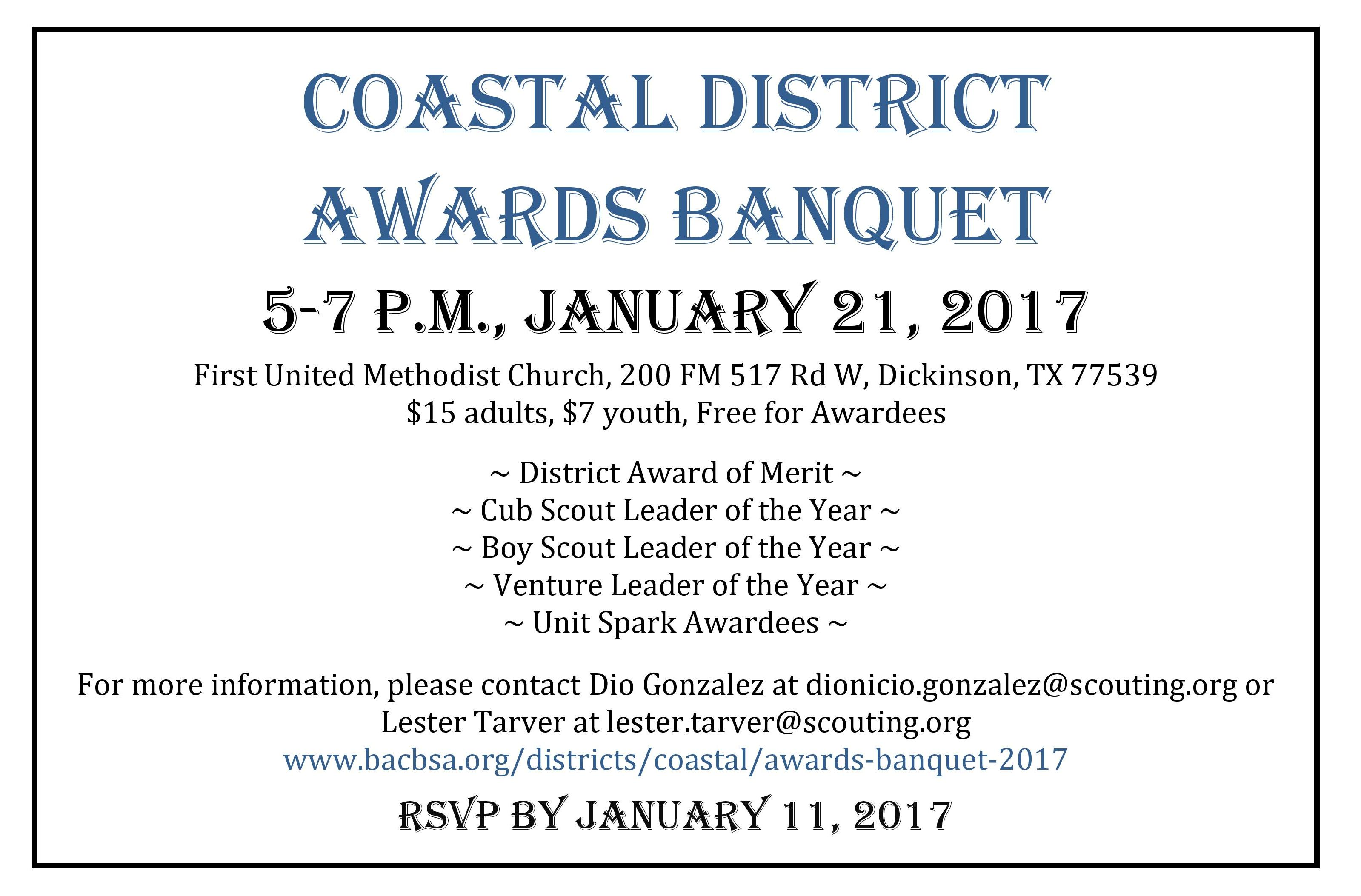 Coastal District Banquet