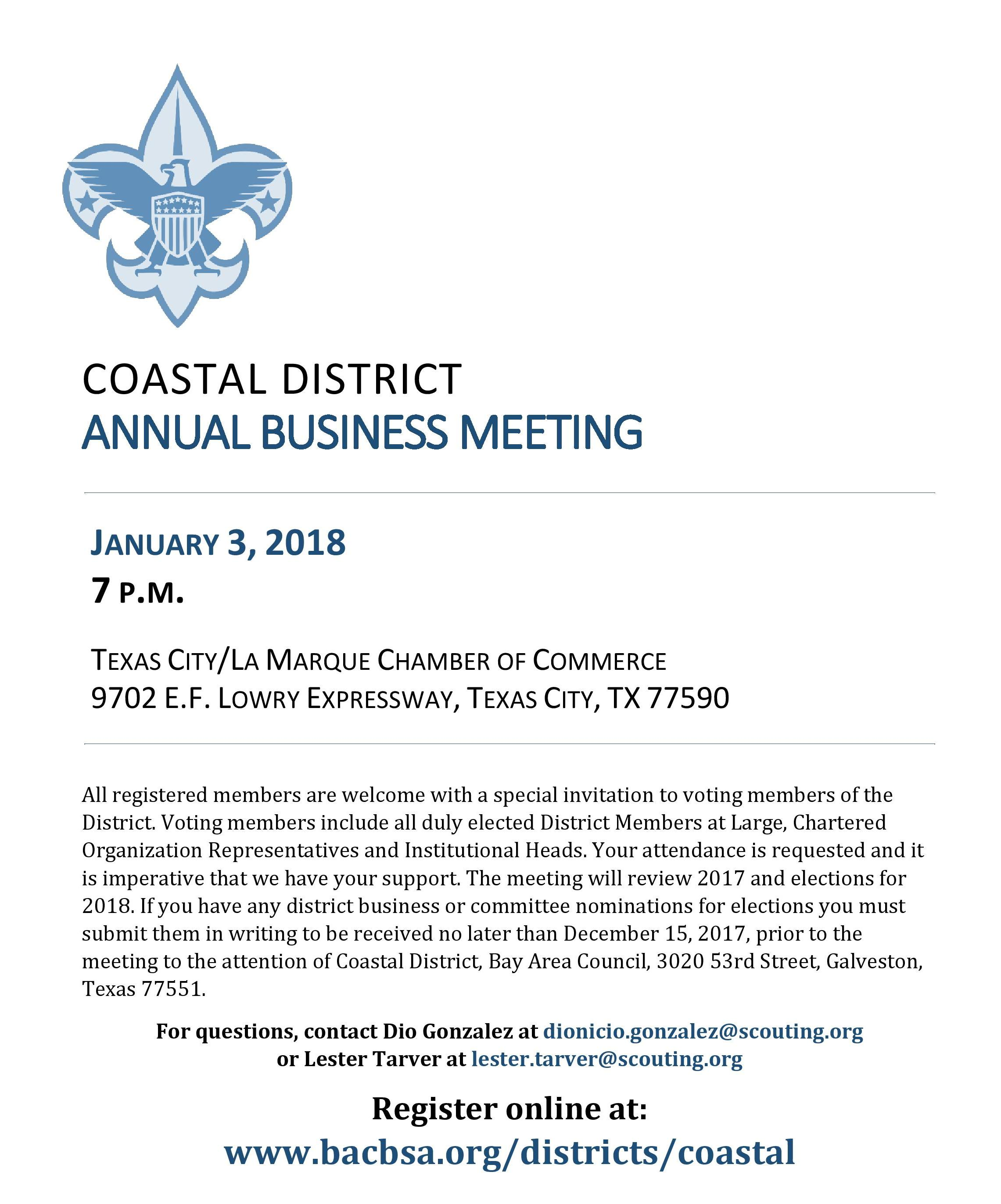 Coastal Annual Business Meeting