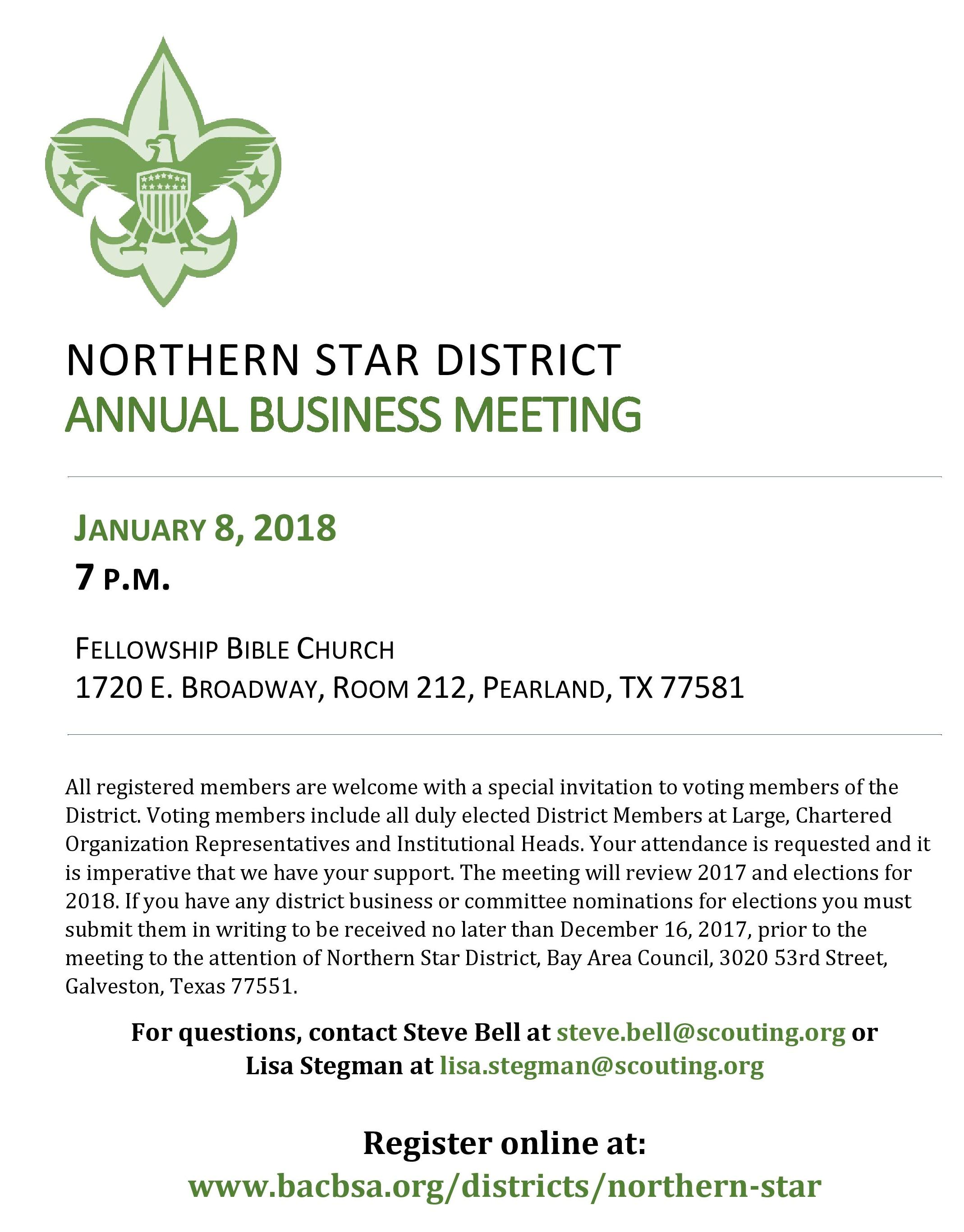 Northern Star Annual Business Meeting