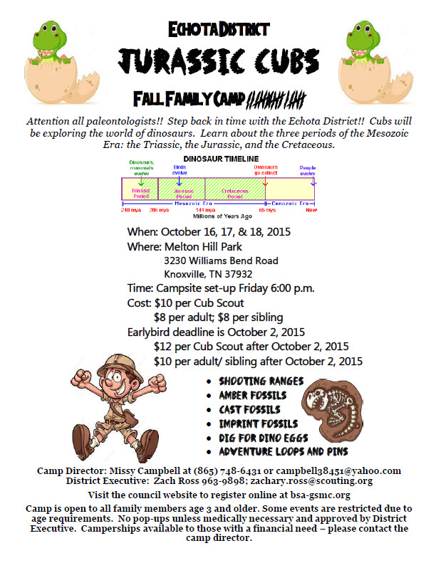 Echota District Fall Family Camp
