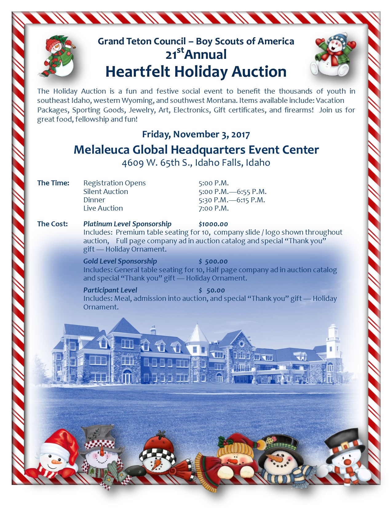 2017 grand teton council holiday auction
