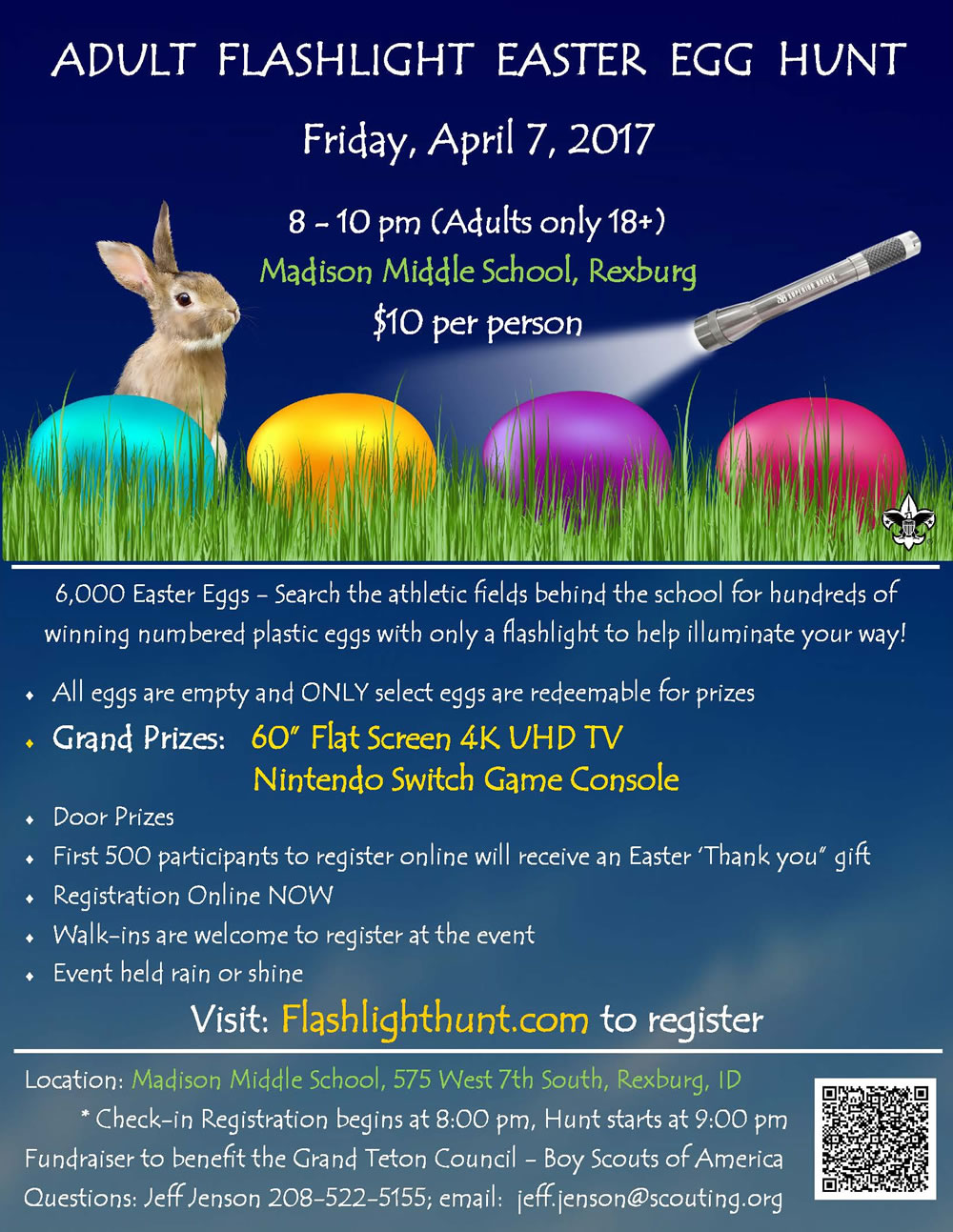 Easter Egg Flashlight Hunt Adults Only 18