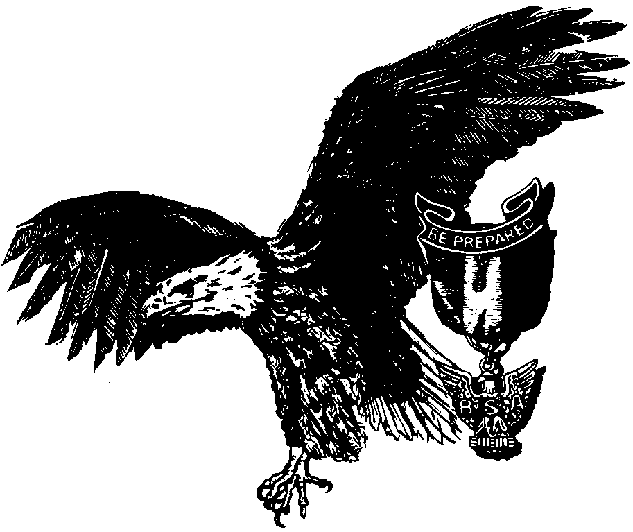 Eagle scout clipart black and white
