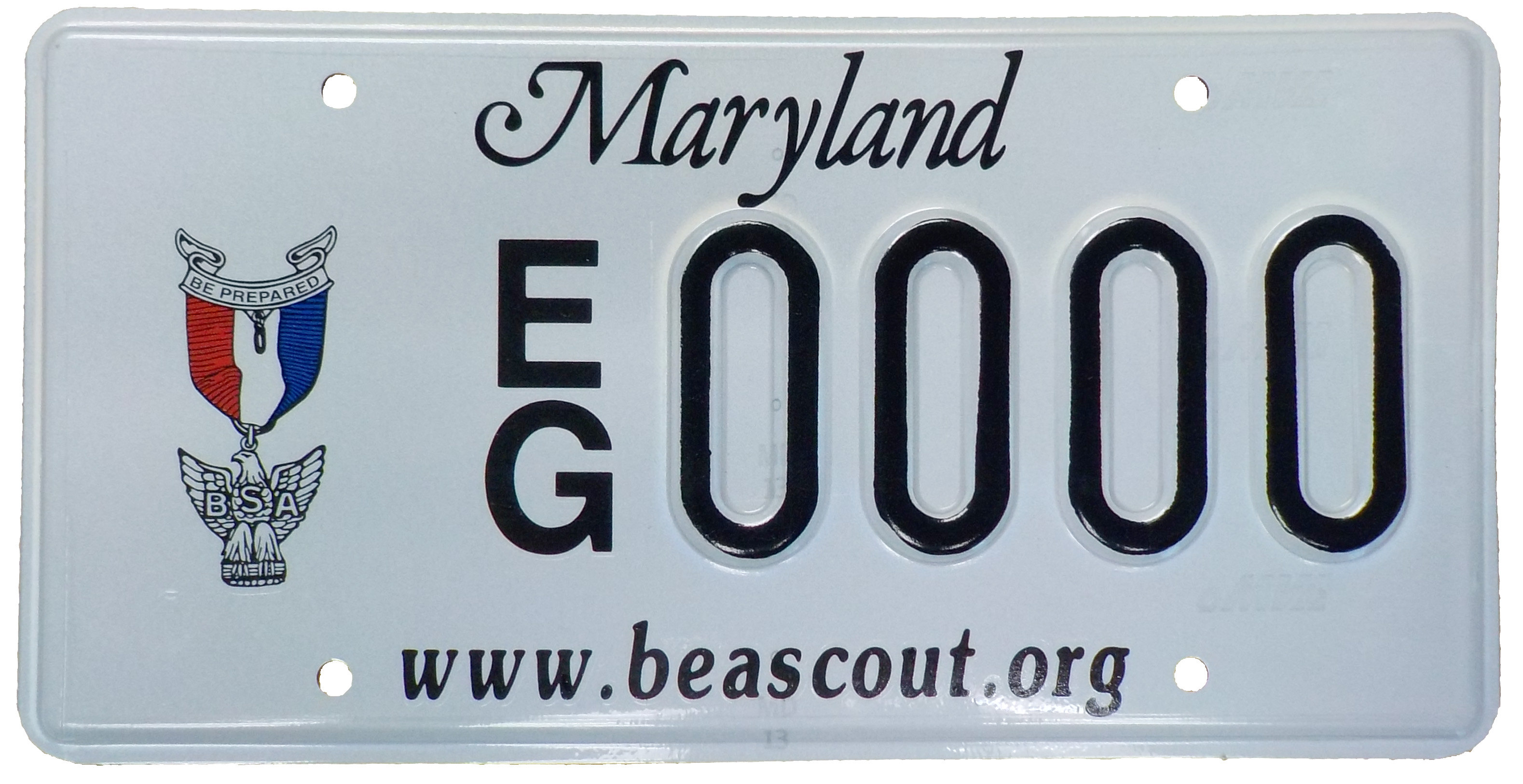 Eagle Scout License Plate/Tag Registration