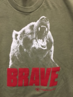 2015 Camp T Shirt - Light Olilve - Bear - Size MEDIUM