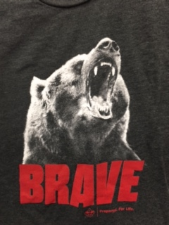 2015 Camp T Shirt - Charcoal - Bear - size LARGE